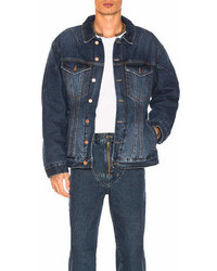 Martine Rose Darted Denim Jacket With Quilted Lining