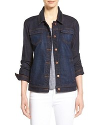 Eileen Fisher Denim Classic Collar Jacket