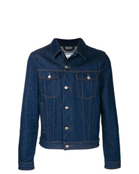 AMI Alexandre Mattiussi Denim Jacket With Ami Paris Patch