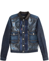DSQUARED2 Denim Jacket With Lam Inserts