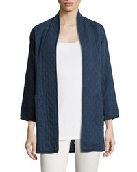 Eileen Fisher Denim Jacquard Jacket