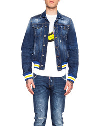 DSQUARED2 Dsquared Baseball Denim Jacket