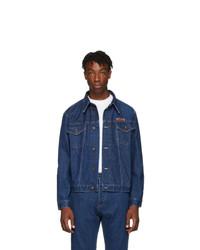 Calvin Klein Jeans Est. 1978 Est 1978 Blue Denim Logo Jacket