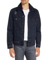 BLANKNYC Faux Fur Collar Denim Jacket