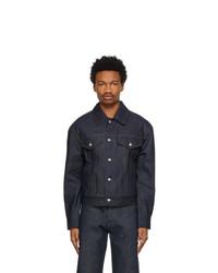 Dries Van Noten Indigo Denim Contrast Stitch Jacket