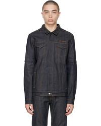 Saintwoods Indigo Denim Convertible Zip Off Jacket