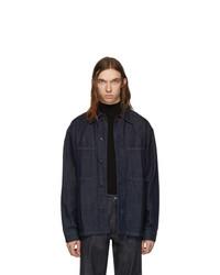 Lemaire Indigo Denim Overshirt Jacket