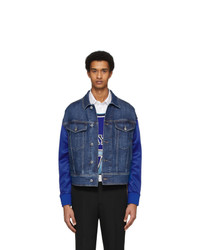 Neil Barrett Indigo Denim Techno Jacket
