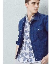Mango Outlet Ink Color Denim Jacket