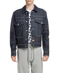 Kenzo Jumping Tiger Embroidered Denim Jacket