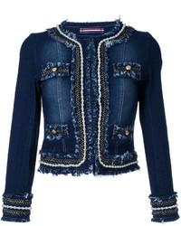 Pearl trimmed denim jacket medium 788347