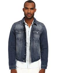 Balmain Pierre Motor Denim Jacket Coat