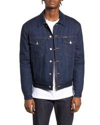 Calvin Klein Jeans Quilted Denim Trucker Jacket