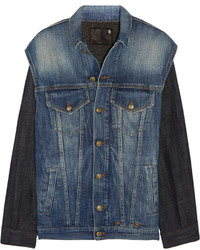 R 13 R13 Two Tone Denim Jacket