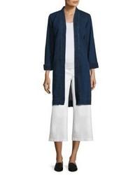 Eileen Fisher Shawl Collar Denim Jacket