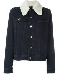 Shearling collar denim jacket medium 631267