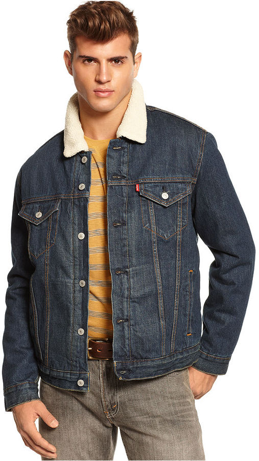 Levi's Sherpa Collar Jean Jacket   Where to buy & how to wear