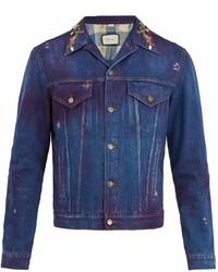 Gucci Tiger Print Denim Jacket
