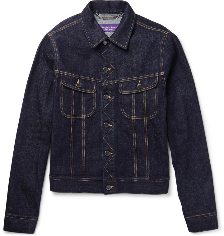 Ralph Lauren Purple Label Trucker Slim Fit Selvedge Stretch Denim ...