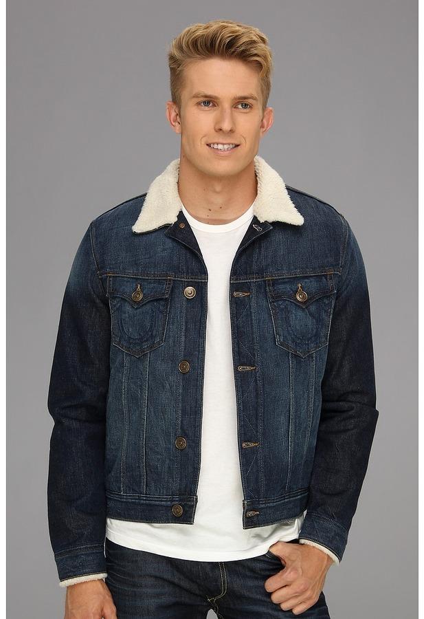 Men's sherpa jean jacket