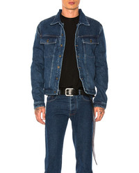 Y/Project Y Project Denim Jacket In Blue