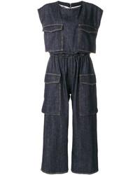 Cargo pocket denim jumpsuit medium 4985390