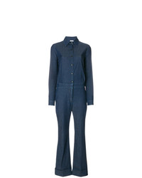 Sonia Rykiel Denim Flared Jumpsuit