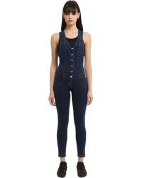 Wrup stretch denim jumpsuit medium 3706235