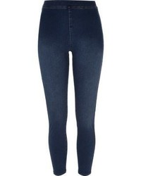 Navy Denim Leggings