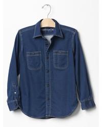 Gap 1969 Knit Denim Shirt