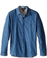 Volcom Kids Hudson Long Sleeve Top Boys Long Sleeve Button Up