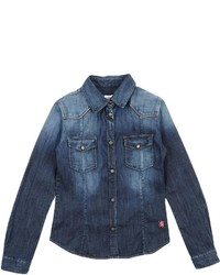 Mauro Grifoni Kids Denim Shirts