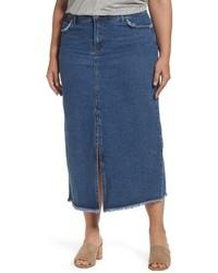 Glamorous Plus Size Denim Maxi Skirt