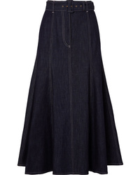 Emilia Wickstead Denim Midi Skirt