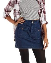 Charlotte Russe Double Pocket Denim Mini Skirt