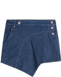Anthony Vaccarello Denim Mini Skirt