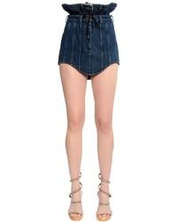 Double waist cotton denim mini skirt medium 4418002