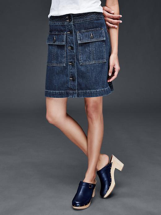 Skirts Denim Mini Skirt By Gap