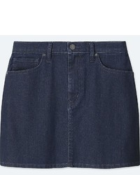 Uniqlo High Waist Denim Mini Skirt