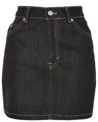 Topshop Moto Raw Denim Mini Skirt