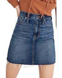 Madewell Reworked Rigid Denim Straight Miniskirt