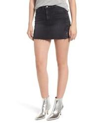 Hudson Jeans The Viper Pierced Cutoff Denim Miniskirt
