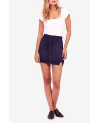 Free People We The Free By Femme Fatale Stretch Denim Miniskirt