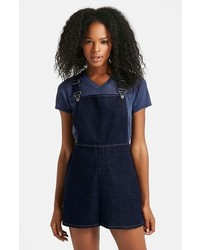 Topshop Moto Denim Pinafore Dress