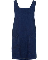 Topshop Moto Indigo Denim Pinafore Dress