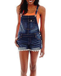Arizona Lace Trim Denim Shortall