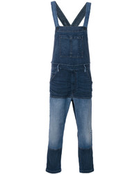 Diesel Patched Denim Dungarees