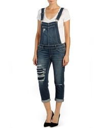 Sierra distressed crop overalls medium 517339