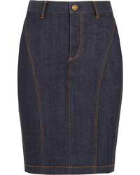 Burberry Brit Stretch Denim Pencil Skirt