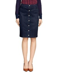 Brooks Brothers Denim Pencil Skirt